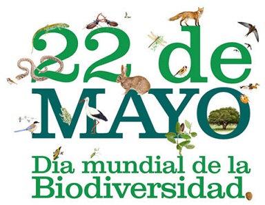 Texto ilustrado con animales. 22 de mayo, Día Mundial de la Biodiversidad