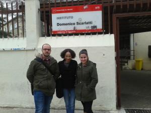 Juan, me y Lucía en IES Scarlatti