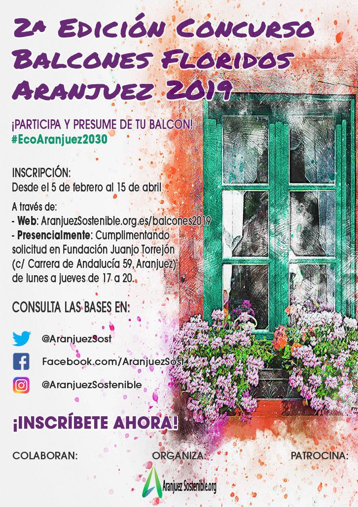 Concurso de Balcones Floridos de Aranjuez 2019